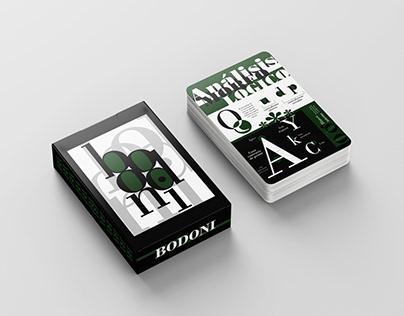 BODONI - Naipes tipograficos