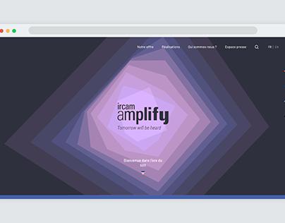 Site web pour Ircam Amplify