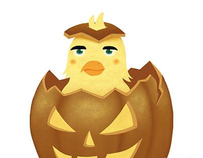 Chocobo in Pumpkin (KittoKuma's DTIYS)