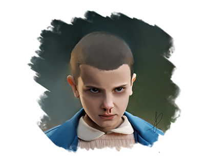 Digital painting - Eleven (Stranger Things)