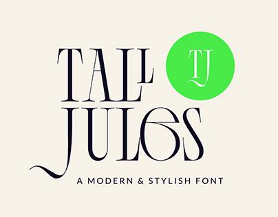 Tall Jules Modern Stylish Font