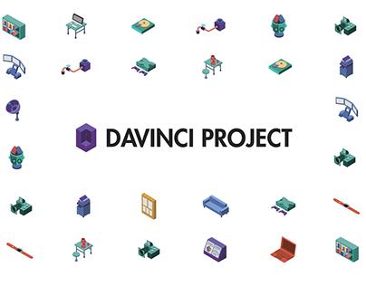davinci project illustration - draft