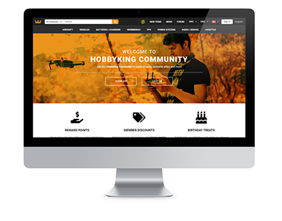 HobbyKing The Community Landing Page Website Design