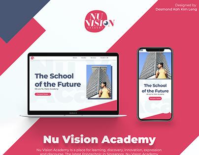 Nu Vision Academy Website (DGUI)