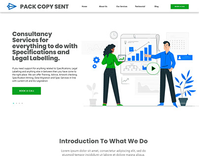 Food Consultancy Website Home Page Design