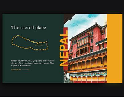Nepal history & travel ui