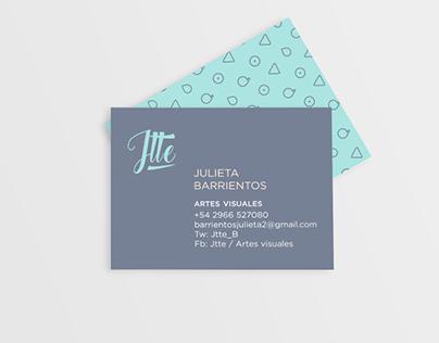 Julieta Artista Visual / LOGOTIPO