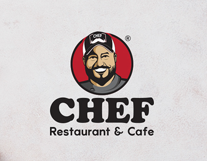 Chef restaurant & cafe logo