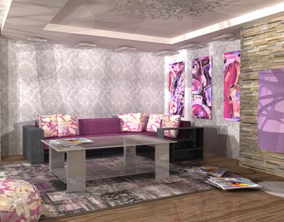 MODERN LIVING ROOM/VRAY/3DMAX/2013