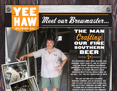 Yee-Haw Brewing Co. Print Ad Campaign