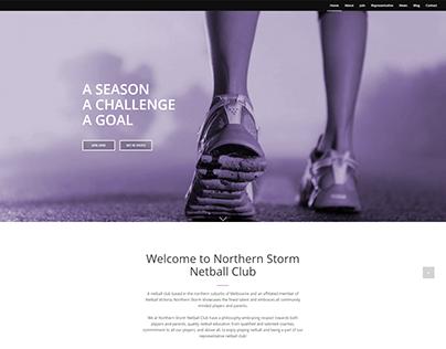 Northern Storm Netball Club Website