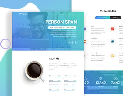 CV/Resume - portfolio landing page