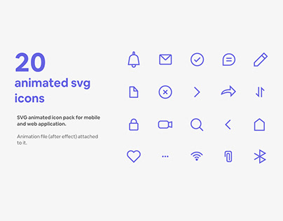 Animated svg icon pack
