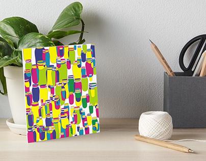 Mason jars psychedelic