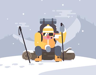 Illustration a week challenge - Week 1 - Adventure