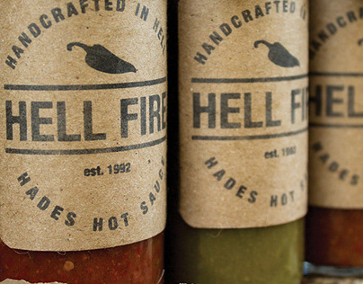 Hellfire Hot Sauce | Packaging