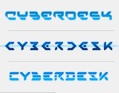 Logotype in three versions, gaming desk