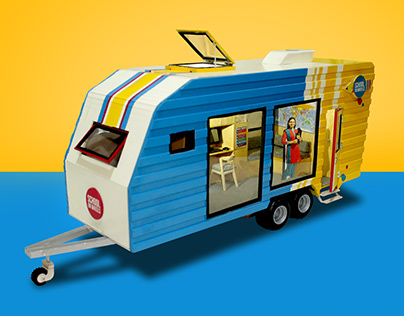 School on Wheels ( Miniature Van Model )