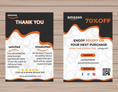 amazon THANK YOU CARD