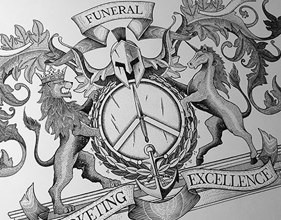 Coat of Arms design - Pen & ink