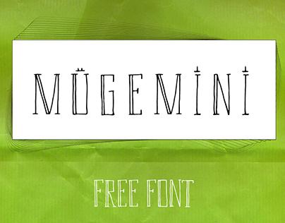 mügemini   free font