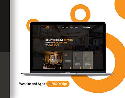Landing page UI/UX design for Woodworker