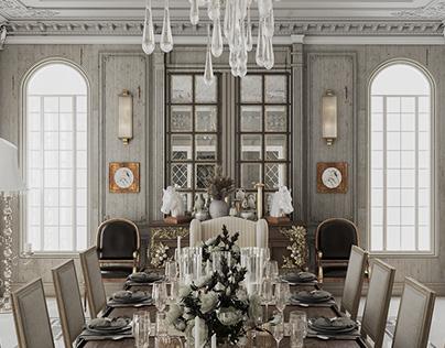 Dining Room   Palm Hills Villa   Interior Design