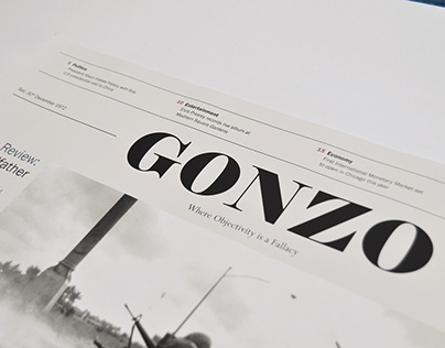 Gonzo 1972 Broadsheet Newspaper
