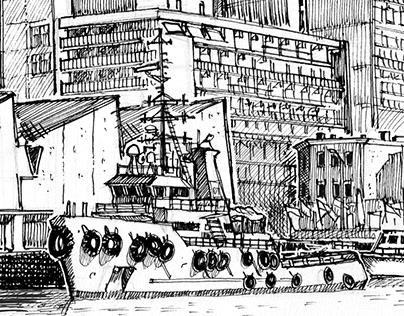 Urban Sketching - Scheveningen