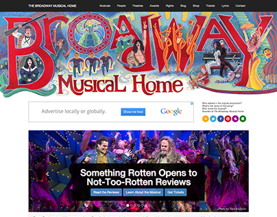 The Broadway Musical Home Website and Social Media
