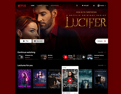 Netflix Homepage Redesign Concept