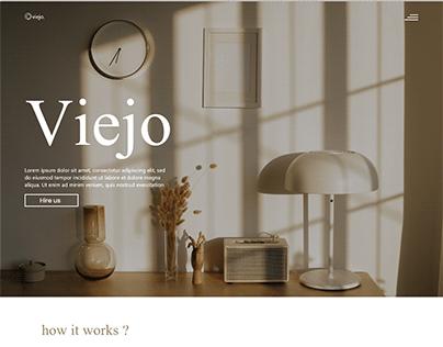 Vintage interior design company Landing page design