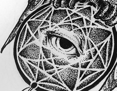 Tattoo design: The dreamcatcher