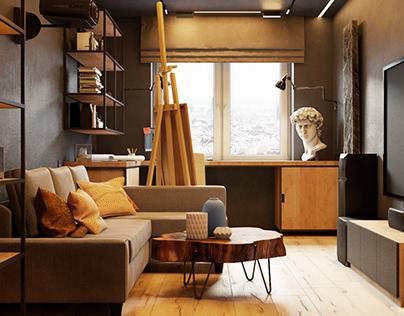 Квартира 60 кв.м. для молодой девушки в Иркутске