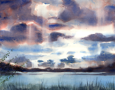 Pejzaż z chmurami 1