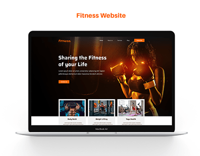 Fitness Website Hero Section