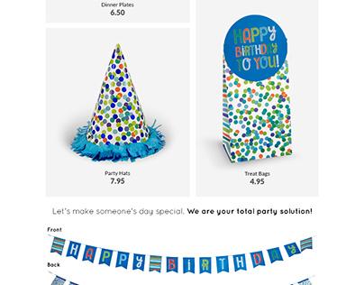 Blue Celebration E-Mail