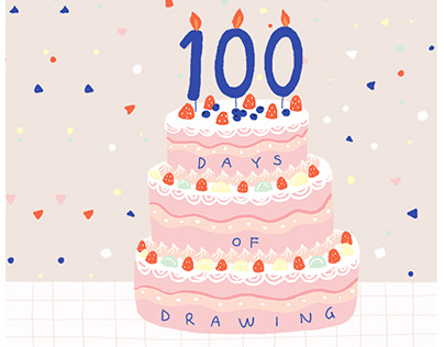 100day of drawing completed