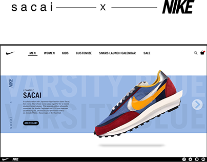 sacai X NIKE LDWAFFLE landing page redesigned
