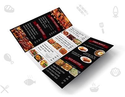 Ram's Grill Menu Card
