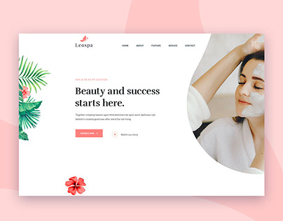 Leospa Clean Minimal Psd And Html Template (Freebie)