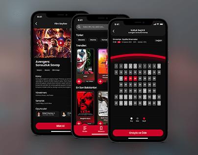Cinema App Concept Design - Eren Yilmaz