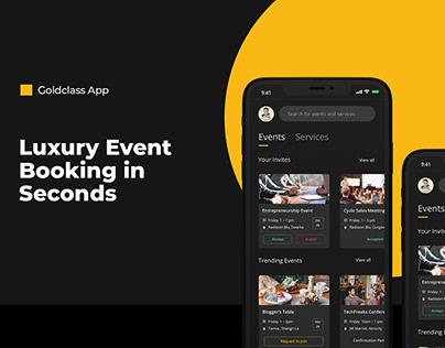 Luxury Event Booking App | Mobile UI UX Design