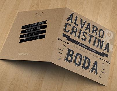 Invitación / Álvaro & Cristina