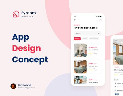 Fyroom App Concept (Booking Hotel)