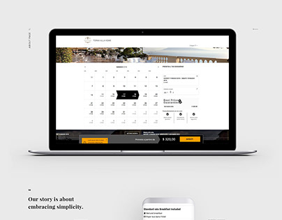 Booking engine & website - UX