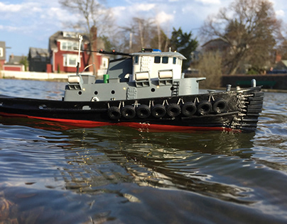 Natick Tugboat : 1/96 scale