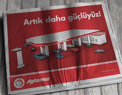 Aytemiz Petrol gazete reklam çalışması
