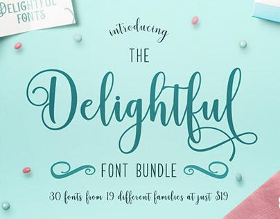 The Delightful Font Bundle