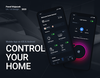 InHome - Smart Home Mobile Concept App (Android & iOS)